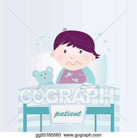 Vector stock ill child with broken hand in the hospital stock ill child with broken hand in the hospital altavistaventures Images