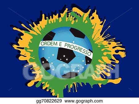 Vector Stock Illustration Abstract Background Football Soccer