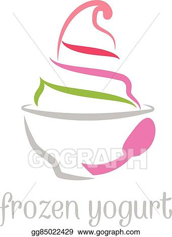 vector illustration illustration concept of frozen yogurt vector rh gograph com