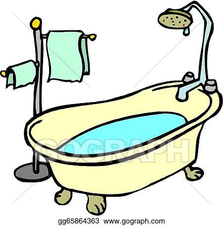 vector art illustration of a bathtub clipart drawing gg65864363 rh gograph com vintage bathtub clipart bathtub clipart png