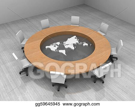 Stock Illustrations - Illustration of a conference room with ... on nautical map table, materia table, people table, diy jigsaw puzzle table, map legend table, map coffee table, world water table, old map on table, games table, judson map cocktail table, atlas coffee table, community map table, old world trunk coffee table, green table, antique map table, decoupage table, vintage map table, paris eiffel tower table, blue table, war map table,