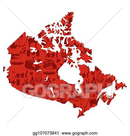 Map Of Canada Eps.Vector Illustration Illustration Of Canada Map Eps Clipart