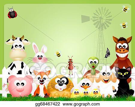 Stock Illustration - Illustration of farm animals  Clipart