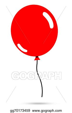 stock illustration illustration of red balloon clipart drawing