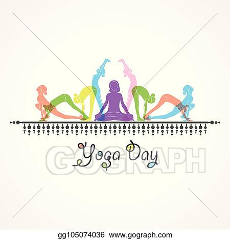 vector art  illustration of woman doing surya namaskar