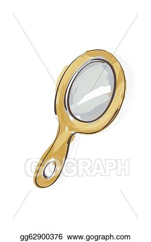 hand mirror sketch. Drawings - Illustration Of Wooden Hand Mirror Sketch . Stock Gg62900376 N