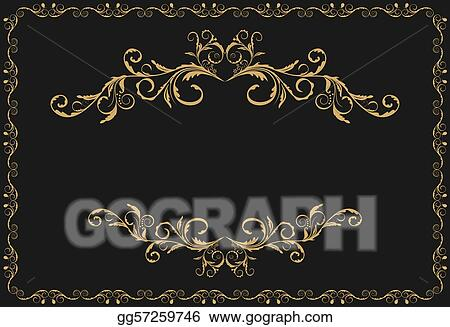 Fancy red and gold christmas ornaments royalty free clipart image