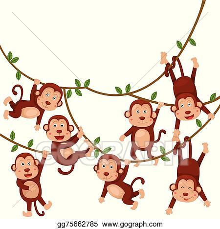 vector art illustrator of monkeys funny cartoo clipart drawing rh gograph com illustrator clip art free illustrator clip art tutorial