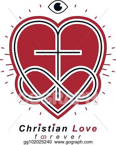 Vector Illustration Immortal Love Of God Conceptual Symbol