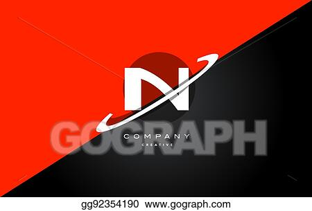 Vector Clipart In I N Red Black Technology Alphabet Company