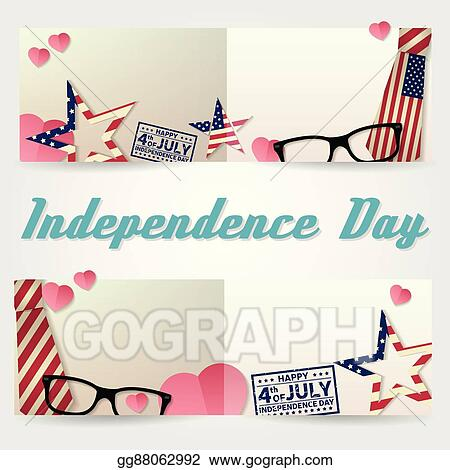 vector art independence day greeting card flyer independence day