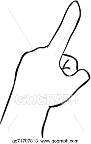 eps vector index finger pointing up stock clipart illustration rh gograph com