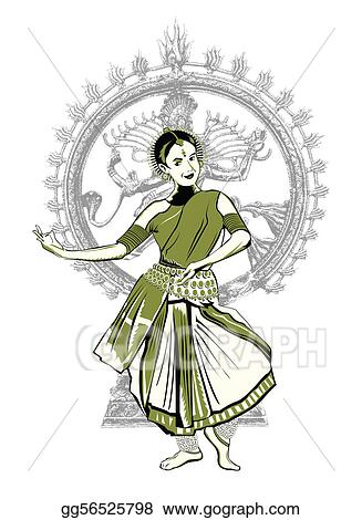 Stock Illustration - Indian dance performer. Clip Art ...