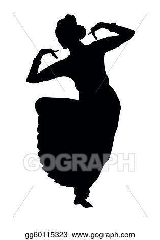 Vector Art Indian Dancing Clipart Drawing Gg60115323 Gograph