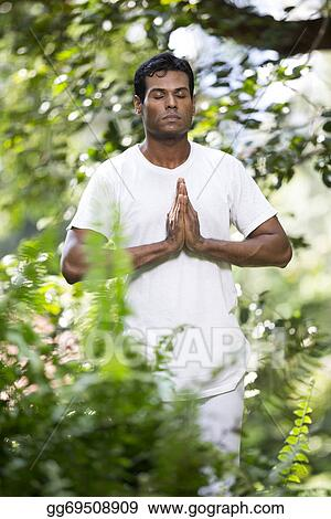 Stock Images Indian Man Doing Yoga Exercise In A Forest Stock Photography Gg69508909 Gograph