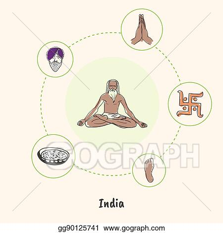 Eps Vector Indian National Symbols Doodle Vectors Collection
