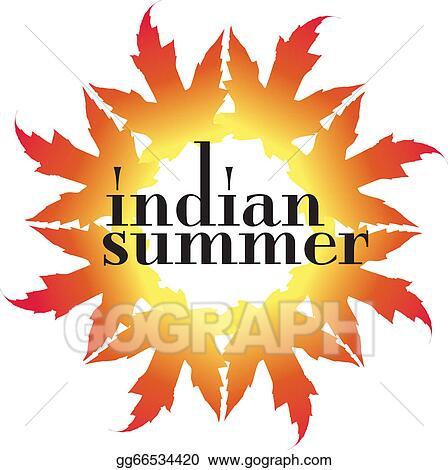 eps illustration indian summer vector illustration vector clipart rh gograph com summer vector images summer vector designs