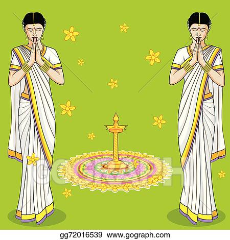 Vector Stock - Indian woman in welcome gesture. Clipart ...