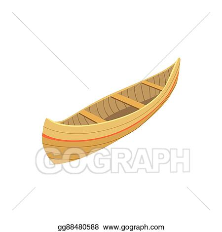 Indian Wooden Canoe Type Of Boat Icon