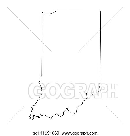 Indiana State Map Outline