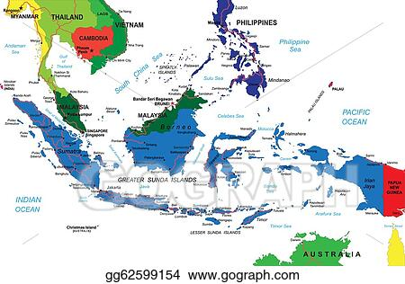 Eps illustration indonesia map vector clipart gg62599154 gograph indonesia map publicscrutiny Choice Image
