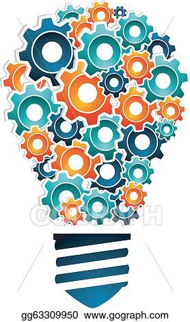 Vector stock industrial innovation concept stock clip for Innovation in product and industrial design