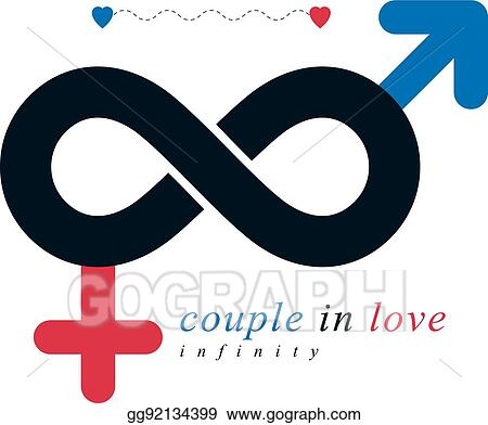 Vector Illustration Infinite Love Concept Vector Symbol Created