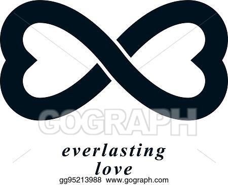 Vector Illustration Infinite Love Concept Vector Symbol Created