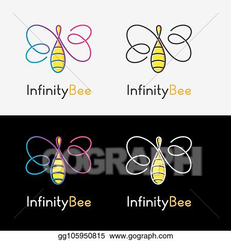 EPS Illustration - Infinity bee logo  Vector Clipart