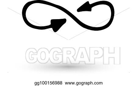 b2042cb8d77e7 Clip Art Vector - Infinity symbol arrowshand drawn with ink brush ...