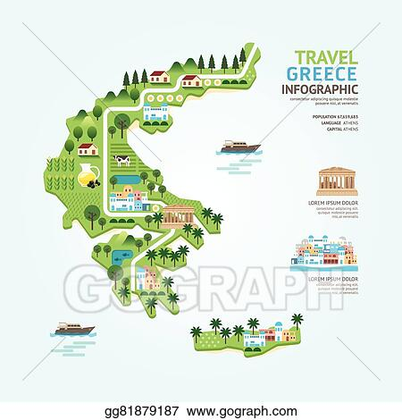 Vector Stock - Infographic travel and landmark greece map ...