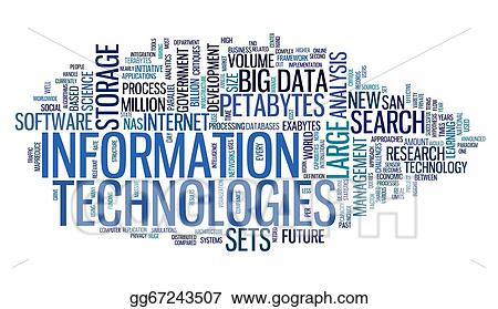 clipart information technology in tag cloud stock illustration rh gograph com health information technology clipart information technology clipart png