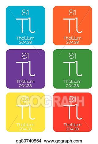 Vector art informative illustration of the periodic element informative illustration of the periodic element thallium urtaz Choice Image