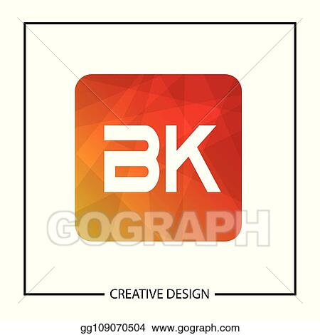 Vector Art Initial Letter Bk Logo Template Design Vector