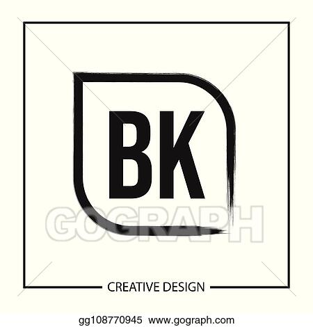 Eps Vector Initial Letter Bk Logo Template Design Stock