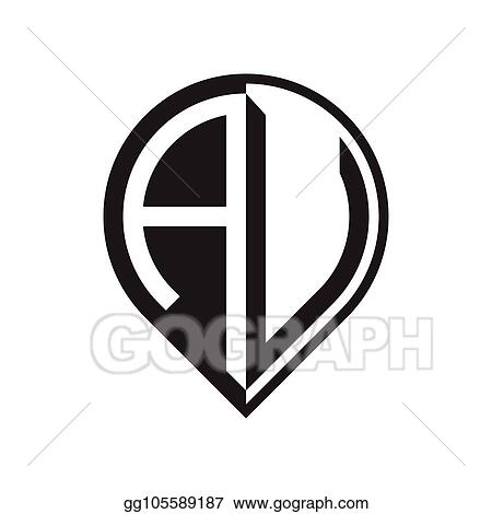 Vector Art Initial Letter Pin Logo Aa To Az Clipart Drawing