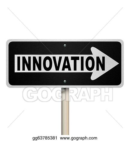 Stock Illustration Innovation Road Sign Points Way To Innovative