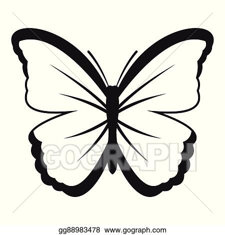eps illustration insect butterfly icon simple style vector clipart gg88983478 gograph insect butterfly icon simple style