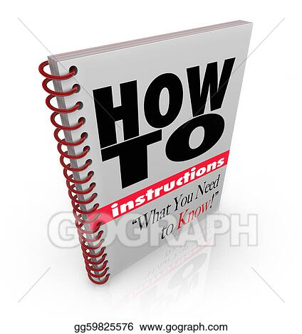 Stock Illustration Instruction Book How To Do It Yourself Manual