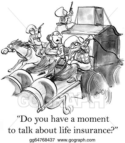 Stock Illustration - Insurance agent comes a bad down ...