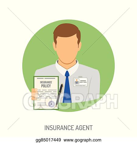 insurance agent flat icon