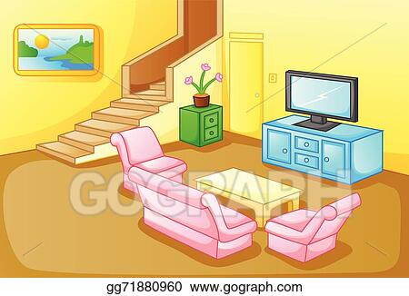 family room clipart. interior of a house living room family clipart l