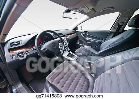 Stock Illustration Interior Of Luxury Car Clipart Drawing