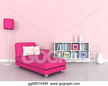 Clipart - Interior of the modern room. Stock Illustration gg58074494 ...