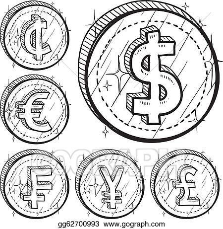 Vector Clipart International Currency Symbols Vector Illustration