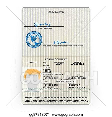 Clip Art Vector - International passport vector  sample