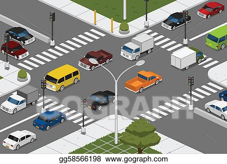 Vector Art - Intersection. Clipart Drawing gg58566198 - GoGraph