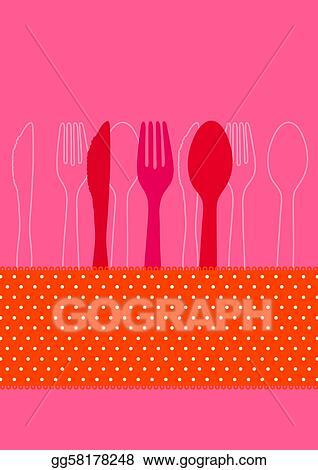 Stock Illustration Invitation To Dinner Clipart Drawing