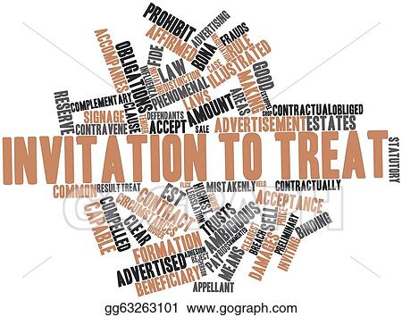 Clip art invitation to treat stock illustration gg63263101 clip art abstract word cloud for invitation to treat with related tags and terms stock illustration gg63263101 stopboris
