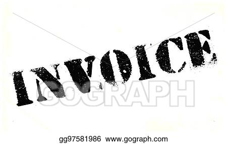 Vector Stock Invoice Rubber Stamp Clipart Illustration Gg - Invoice stamp